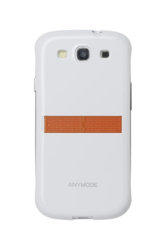 rd Case for Samsung Galaxy S3 (White with Orange Stand) ()