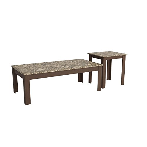 Cherry Marble Top Coffee Tables: Coaster Home Furnishings 3 Piece Faux Marble Top Coffee