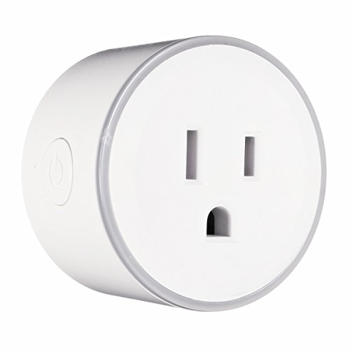 WiFi Smart Plug, EIVOTOR Wireless Socket Mini Outlet Works with Amazon Alexa Echo Dot and Google Assistant, RGB Light Design, No Hub Required, APP Remote Control your Devices from Anywhere (16a Plug)