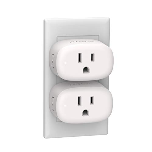 Nooie Smart Plug Wifi Outlet Mini Smart Socket Compatible with Alexa, Google Assistant, No Hub Required. Schedule Timer Function Control Electric Devices(2packs)