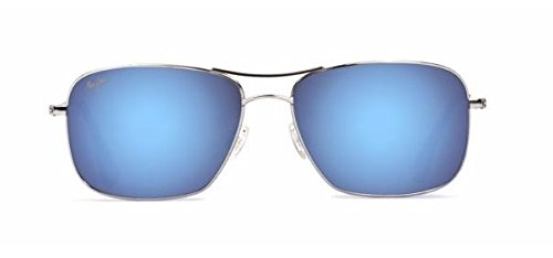 Maui Jim Wiki Wiki Polarized Sunglasses Silver / Blue Hawaii One - Wiki Maui Wiki Jim