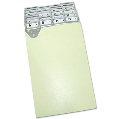 Martin Yale 14254 Posting Tray Index Set, 25 Press-Board Dividers for 6'' x 9'' Sheets, Includes A-Z Categories and Blank Inserts, Metal Tab Index