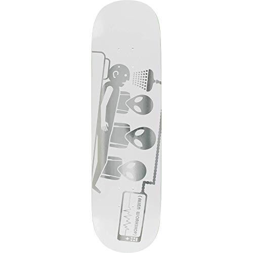 - Alien Workshop Abduction 3D Foil Skateboard Deck -8.25 White - Assembled AS Complete Skateboard