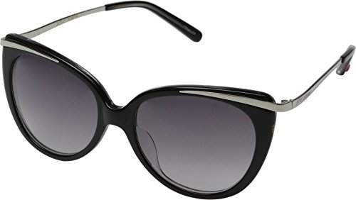 Betsey Johnson Women's Metal Trimmed Cat w/Grey Gradient Lens Black One Size
