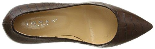 Jonak 277-Alden - Zapatos de Vestir mujer marrón - Marron (Reptile/Marron)