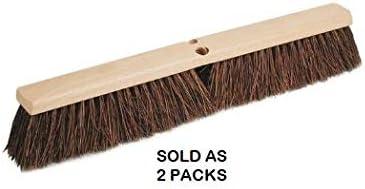 2 packs Wood Block 24 in Palmyra Push Broom Head