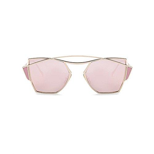 Blue Gafas Sol De Correr De Calle La Embellecidas Coloridas Pink para De Mujeres Gafas Creativas Las A0q66t