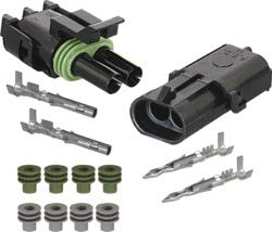 96900 Socket Weather Pack 96904 Seal Includes 96895 99256 16-14 AWG 96898 Housing 96902 Pin 2-Way Inline Connection Kit