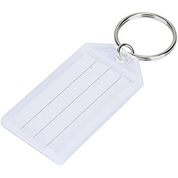 Amazon avery key tags split ring white 125 inch diameter uniclife 20 pack tough plastic key tags with split ring label window white ccuart Gallery