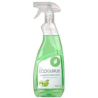 The EcoGurus - Highest Strength! - Natural Apple Vinegar based Hard Water Cleaner! - Clean Hard Water, Lime, Bathroom, Shower, Sink, Bath, Tiles, Toilet, Windows, Calcium, Rust and More!