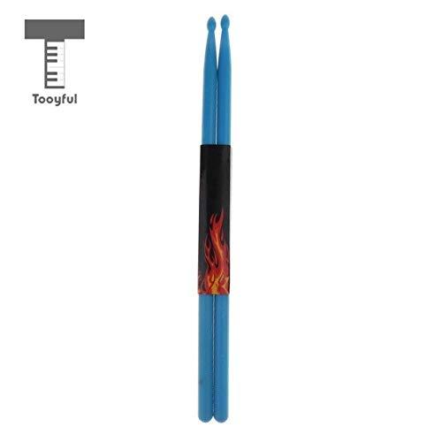- Sala-Fnt - Durable 1 Pair Nylon Bass Drum Sticks Mallets Rods Drumstick Drum Set Accessory Well Balance