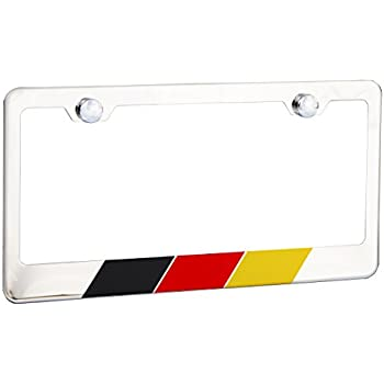 German Flag Germany 3D Metal License Plate Frame