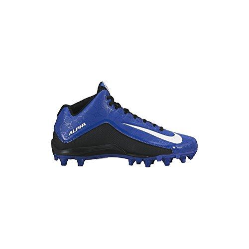Nike Mens Alpha Strike 2 Three-Quarter Football Cleat, negro, blanco, (Sport Royal/Black/White), 46 D(M) EU/11 D(M) UK