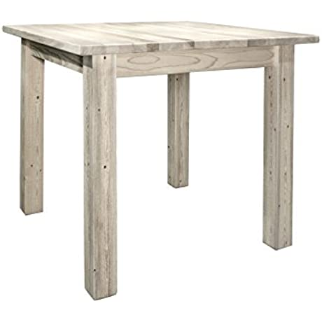 Montana Woodworks Homestead Collection Counter Height Square 4 Post Dining Table Ready To Finish