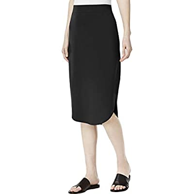 Eileen Fisher Womens Curved Hem Below Knee Pencil Skirt