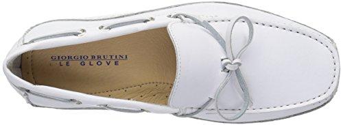 Giorgio Brutini Mens Taylor Driving Style Mocassino Bianco