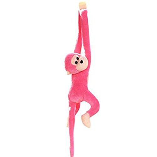 potato001 Stuffed Monkey Plush Toy Long Arm Hanging Gibbons Kids Birthday Gift for Kids (Pink)]()