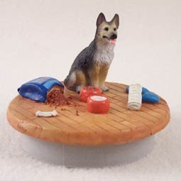 Conversation Concepts Miniature German Shepherd Tan & Black Candle Topper Tiny One