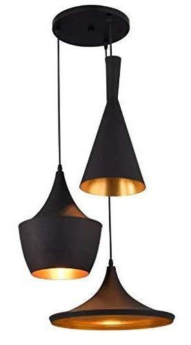 Imper!al 60W 3-light Hanging Pendant Light Ceiling Lamp, Black