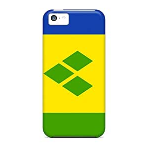 Top Quality Protection Saint Vincent And The Grenadines Flag Case Cover For Iphone 5c