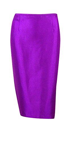Le Suit Women's Shantung Pleated Collar Skirt Suit (4, Amethyst) by Le Suit (Image #2)