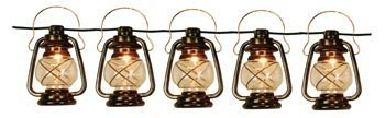 Outdoor Lantern String Lights Bronze - 5