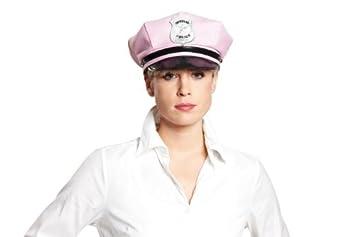 Polizei-hut Polizeimütze Karneval Police Erwachsene Polizistin JGA rosa pink 189