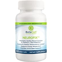 NEUROFIX: Nerve Health Support Supplement 30 Vege-Caps |B-Vitamins, Alpha Lipoic Acid And Folates For Healthy Nerve Function