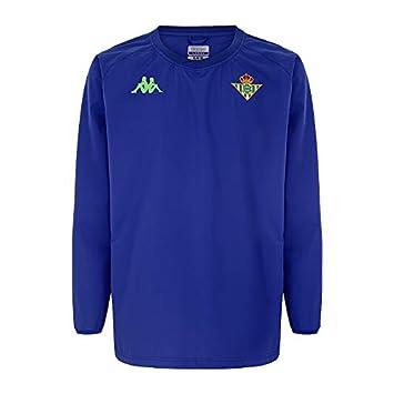 Chubasquero impermeable de entrenamiento - Real Betis Balompié 2018/2019 - Kappa Arainzip 2 Windbreaker - Azul - Adulto: Amazon.es: Deportes y aire libre