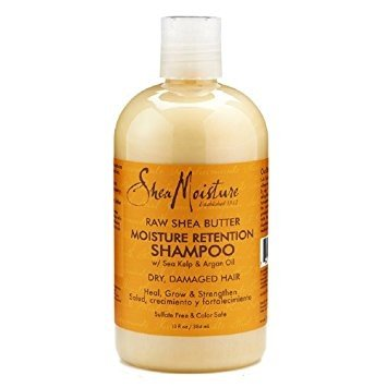 SHEA MOISTURE - Raw Shea Butter Moisture Retention Shampoo - For damaged and dry hair - Regenerates and nourishes - Softness - Shine - Elasticity - Natural ingredients - 384 ml ()
