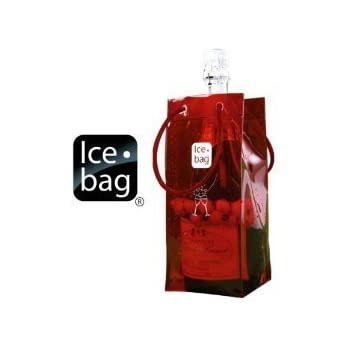 Ice Bag Is Portable and Folds for easy Storage - Red
