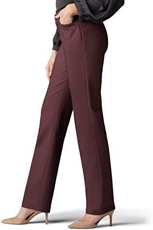 Lee Secretly Shapes Pantalon à jambes droites coupe classique pour femmes - Marron - 50 court