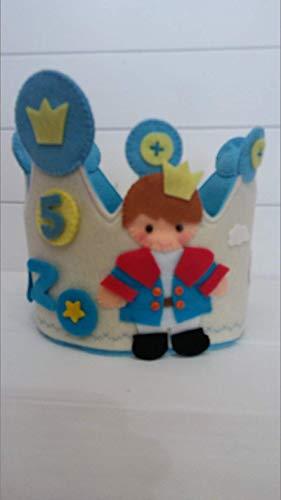 Corona Cumpleaños Infantil Personalizada Príncipe: Amazon.es ...