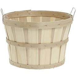 Texas Basket Co. Natural Round 1/2 Bushel Basket