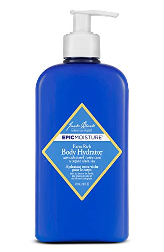Jack Black - Extra Rich Body Hydrator, 16 fl oz - Epic Moisture for Men and Women, Emollient Lotion, Lasting Hydration for Skin, Shea Butter, Coffee Seed, Organic Green Tea (Best Lotion For Black Men)