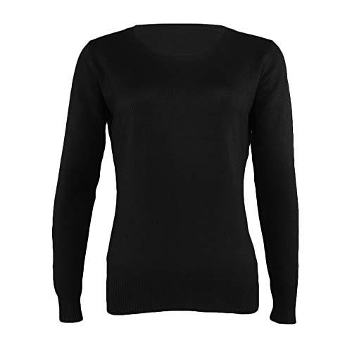 ... Versión Blusa Coreana suéter de Cachemira de Punto para Mujer, Color sólido, suéter Base, suéter Redondo, Cuello Redondo, Primavera y otoño Camisetas de ...