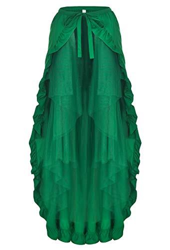 (Alivila.Y Fashion Womens Steampunk Gothic Skirt Pirate Skirts 31714-Green-S )