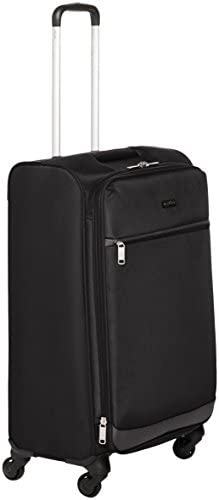 Amazon Basics Softside Spinner Luggage Suitcase - 30.9 Inch, Black