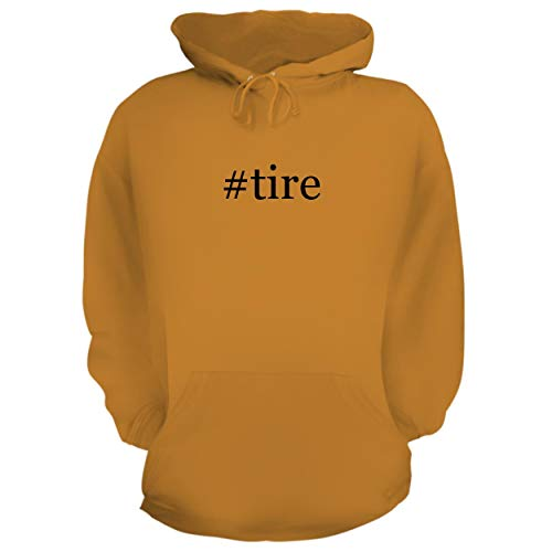BH Cool Designs #tire - Graphic Hoodie Sweatshirt, Gold, Medium
