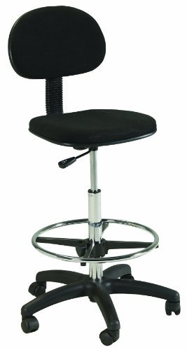 Martin Stiletto Drafting Height Chair Seating in Black by Martin