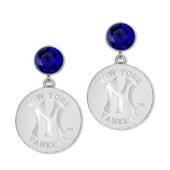 Game Time Offical MLB NY YANKEES Disc Earrings