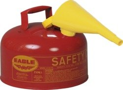 Gallon Eagle 2 Type (Eagle - Type I Safety Can, 2 Gallon, Flammable, Red, Self-Closing Lid - with Funnel (Pack of 1))