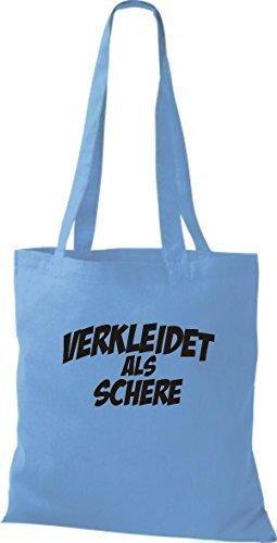 Camiseta InStyle bolsa tijeras de calidad como de carnaval, trajes disfrazaran, varios colores azul - azul claro