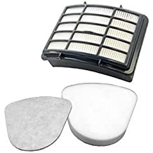 Techypro Shark Navigator Lift away filter Nv350 sets, Fits Nv351, Nv352, Nv355, Nv356, Nv357, 1 Pre-filter Foam & Felt and 1 Hepa Filter for Shark Part # Xff350 & # Xhf350