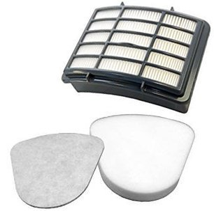 Techypro Shark Navigator Lift Away Filter Nv350 Sets, Fits Nv351, Nv352, Nv355, Nv356, Nv357, 1 Pre-Filter Foam & Felt and 1 Hepa Filter for Shark Part # Xff350 & # Xhf350