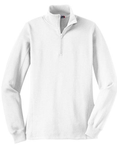Sport-Tek Women's 1/4 Zip Sweatshirt XL White ()