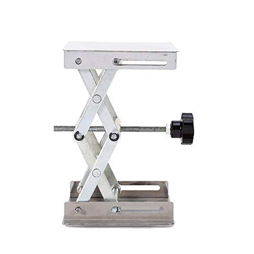 Ochoos 4'' x 4'' 100mm Stainless Steel Lab Stand Lifting Platform Laboratory Tool Laboratory Lifting Platform by Ochoos (Image #4)