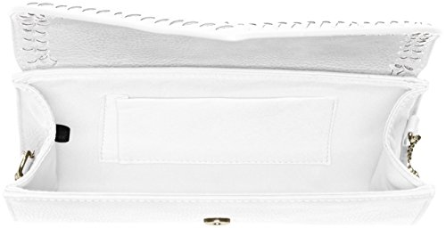 Blanc Swans Pochettes Swanky Ashton Clutch White Envelope dXwdgBq