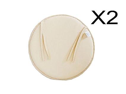 Catay home confezione da cuscini rotondi in tela colore