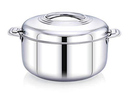 Ankur Stainless Steel Insulated Casserole/Hot Pot, Chapati Box/Hot case, 1500 ML